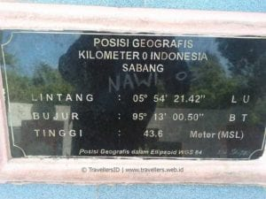 Tugu Zero Kilometer of Indonesia 3, Sabang, NAD, Indonesia